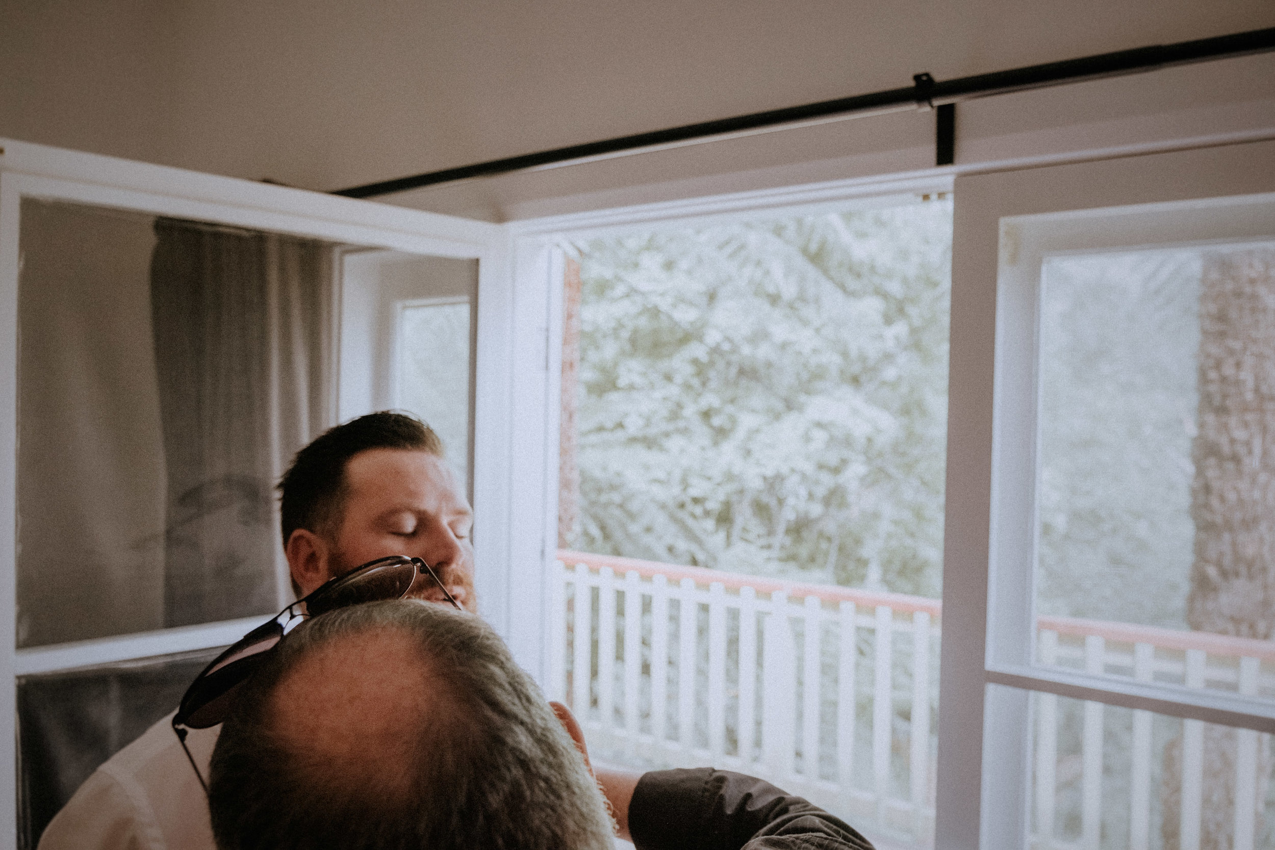 A groom getting ready for his Redwood Forest wedding in Melbourne