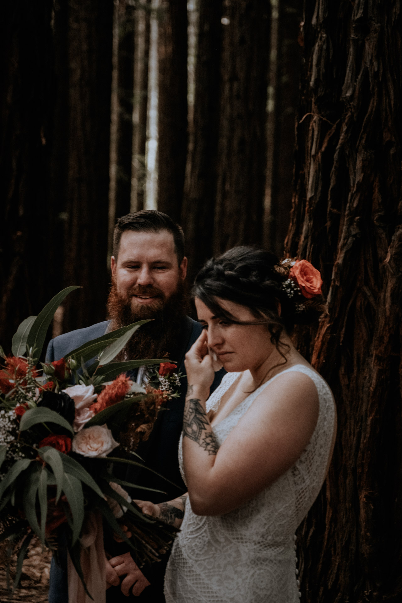 A small wedding, candidly captured with intimate vibes, in the Redwood Forest in Warburton, near Melbourne