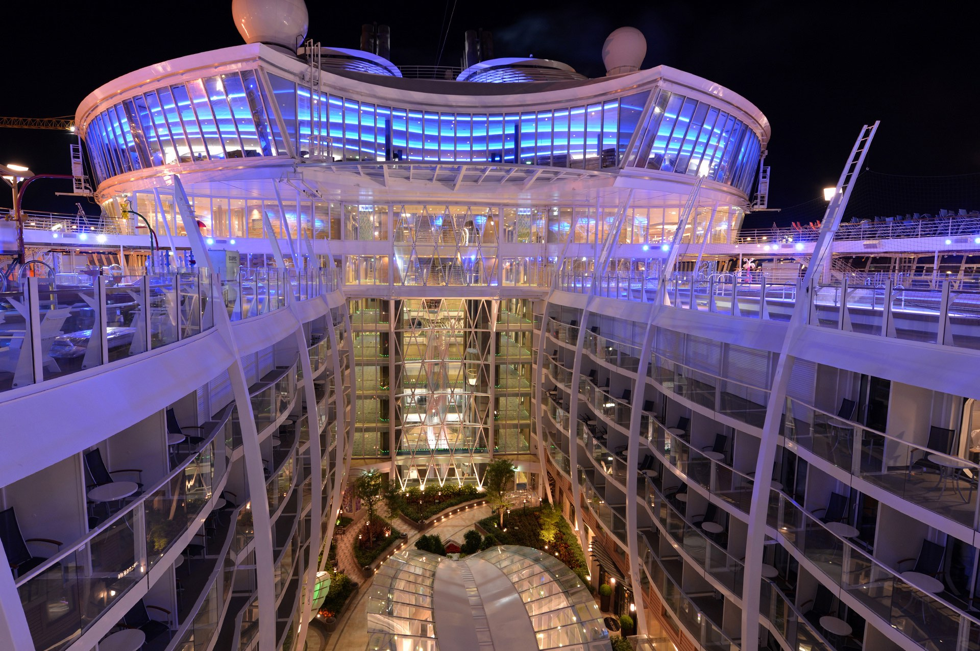 Central Atrium onboard Royal Caribbean Cruise Liner