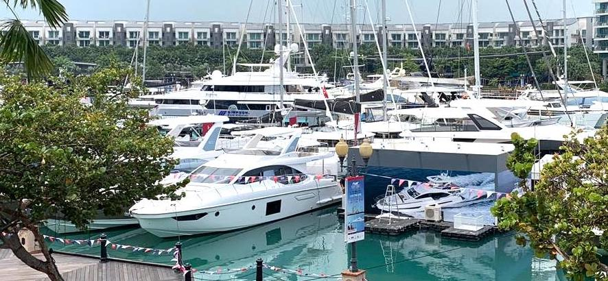 Yachts and Superyachts at the Singapore Yacht Show 2019