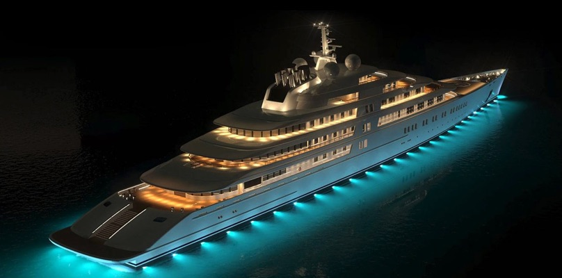 Computer generated Superyacht image