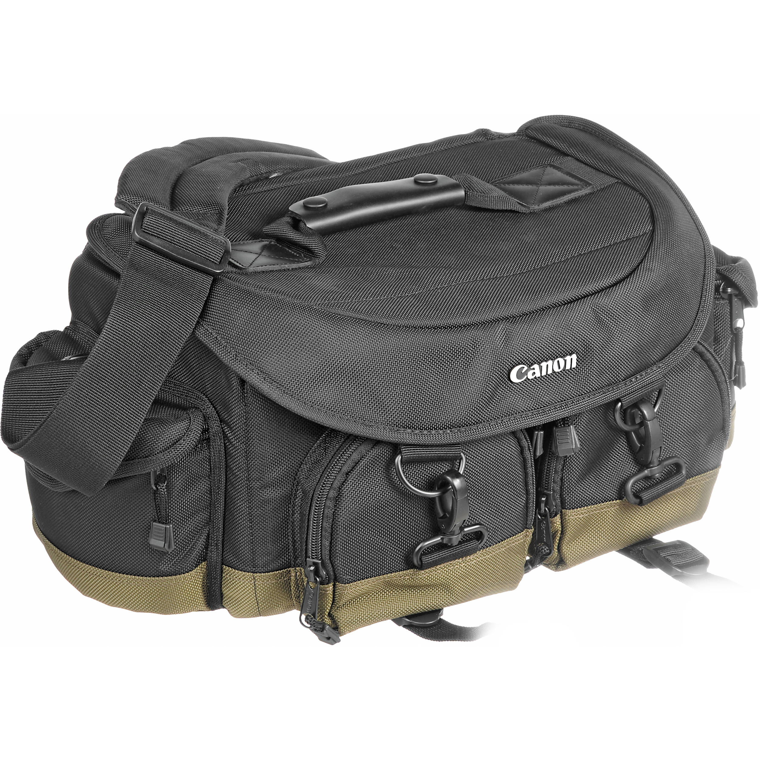 Bag –  Canon Professional Gadget Bag  A great investment. Endless amount of storage for multiple lenses, two camera bodies, flash, batteries, memory cards, chargers, cables, snacks… you name it.