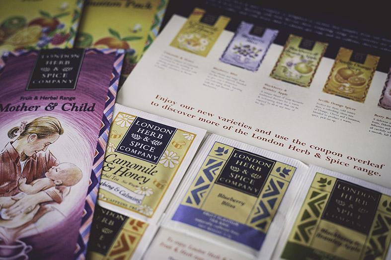 Agency:  Acorn Creative  Client:  London Herb & Spice   Work : Artwork, cutter-guides  Apps : QuarXPress, Illustrator, Photoshop
