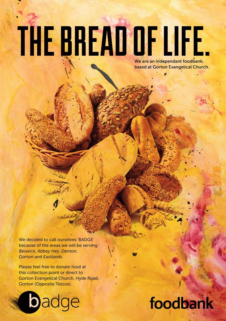 Client : Badge/Foodbank  Work : Design, artwork, art-direction, amends, typography, retouching  Apps : InDesign, Photoshop, Illustrator