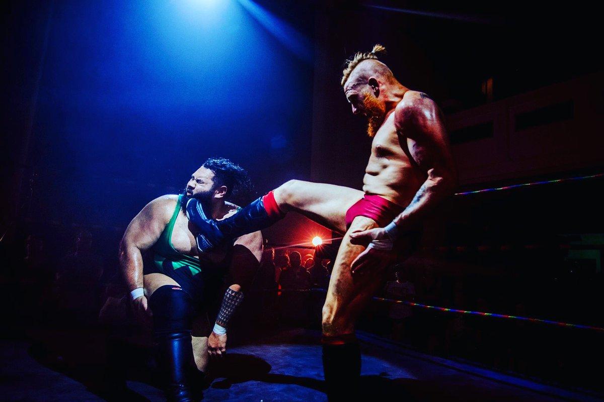 Damon Moser lands a devastating strike to Jonah Rock at the Brighton Championship Tournament (photo: The Head Drop)