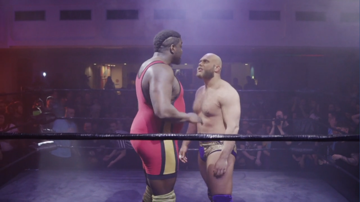 Jurn Simmons squares up to Big T Justice at the 2019 RIPTIDE Rumble