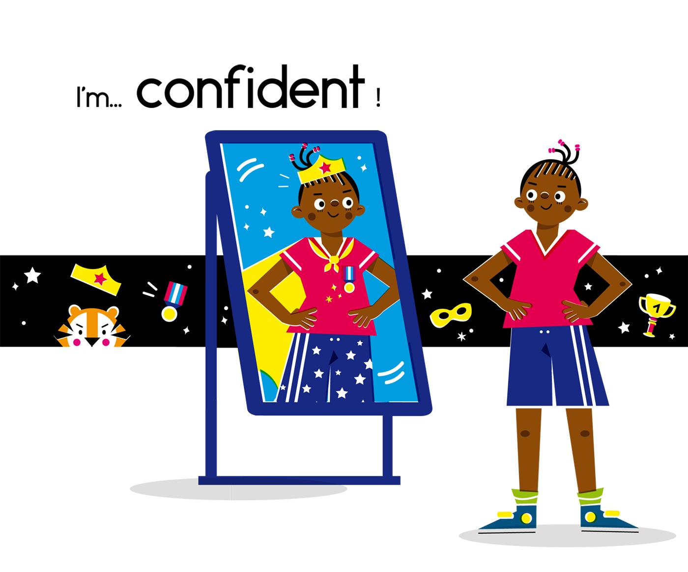 Confident - Vector Illustration © Emeline Barrea, All rights reserved