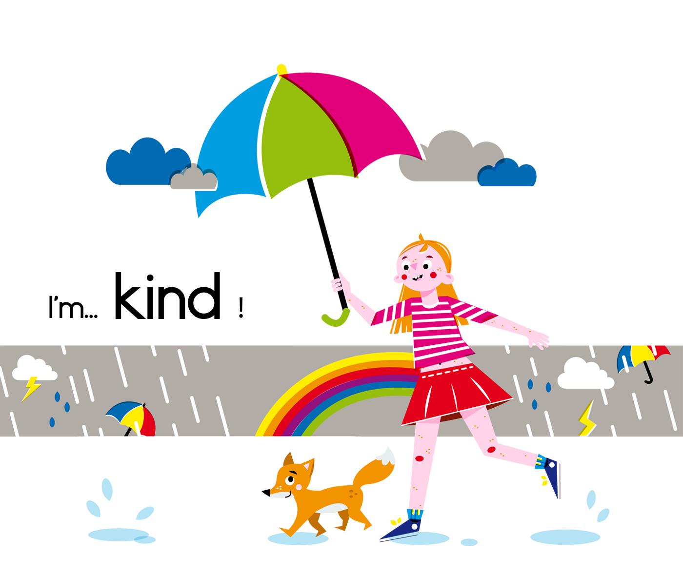 Kind - Vector Illustration © Emeline Barrea, All rights reserved