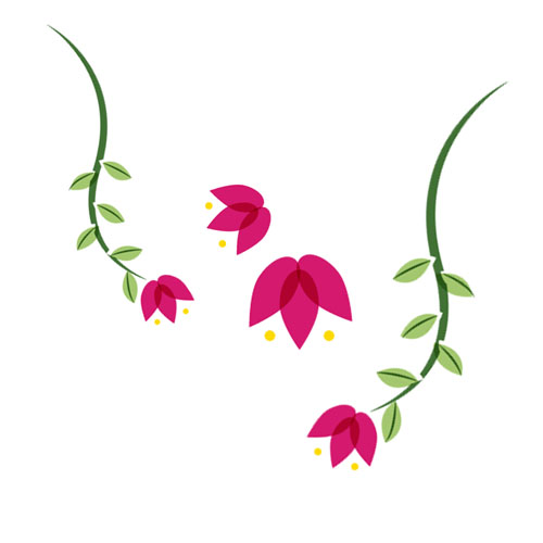 Flowers - Vector Illustration © Emeline Barrea, All rights reserved