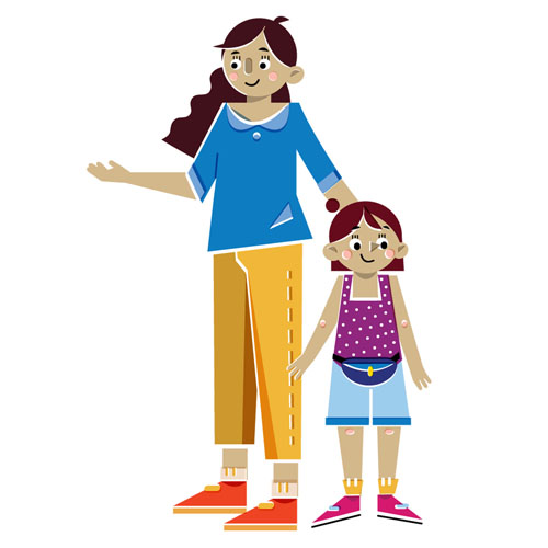 Family - Vector Illustration © Emeline Barrea, All rights reserved
