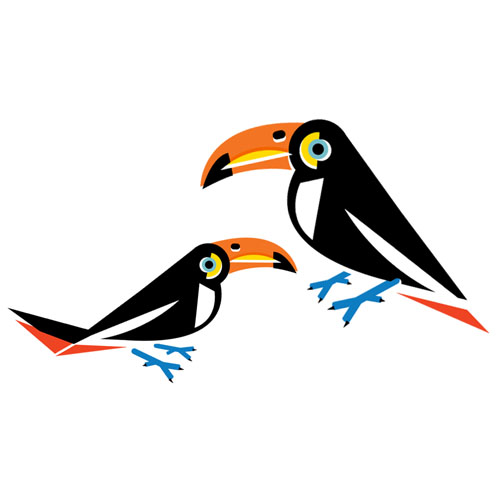 Toucans - Vector Illustration © Emeline Barrea, All rights reserved