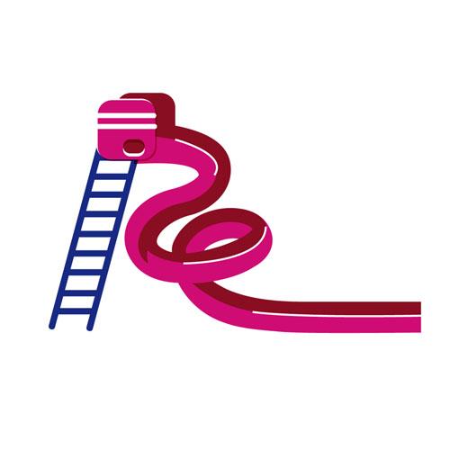 Pink Slide - Vector Illustration © Emeline Barrea, All rights reserved