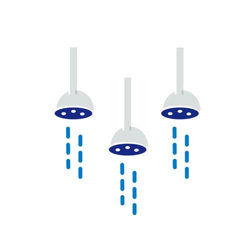Showers - Vector Illustration © Emeline Barrea, All rights reserved