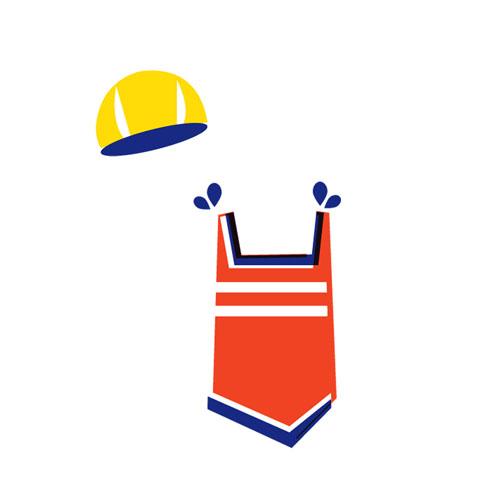 Swimsuit - Vector Illustration © Emeline Barrea, All rights reserved