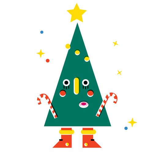 Christmas Tree - Vector Illustration © Emeline Barrea, All rights reserved