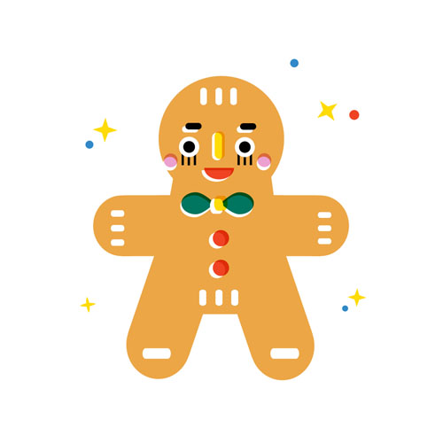 Gingerbread cookie - Vector Illustration © Emeline Barrea, All rights reserved