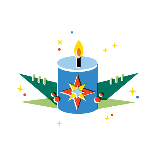 Candle - Vector Illustration © Emeline Barrea, All rights reserved