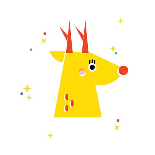 Reindeer - Vector Illustration © Emeline Barrea, All rights reserved