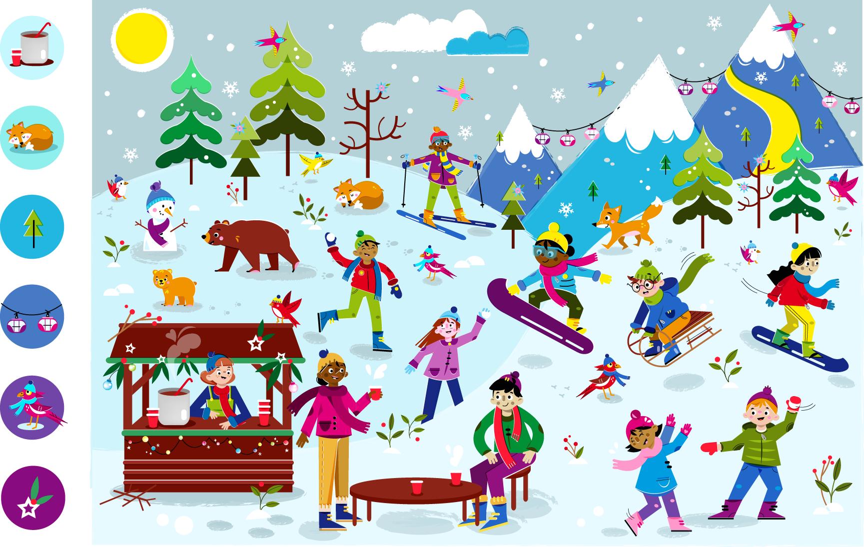 Look & Find: Winter Wonderland - Vector Illustration © Emeline Barrea, All rights reserved