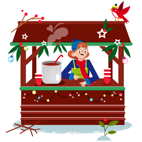 Hot chocolate house - Vector Illustration © Emeline Barrea, All rights reserved