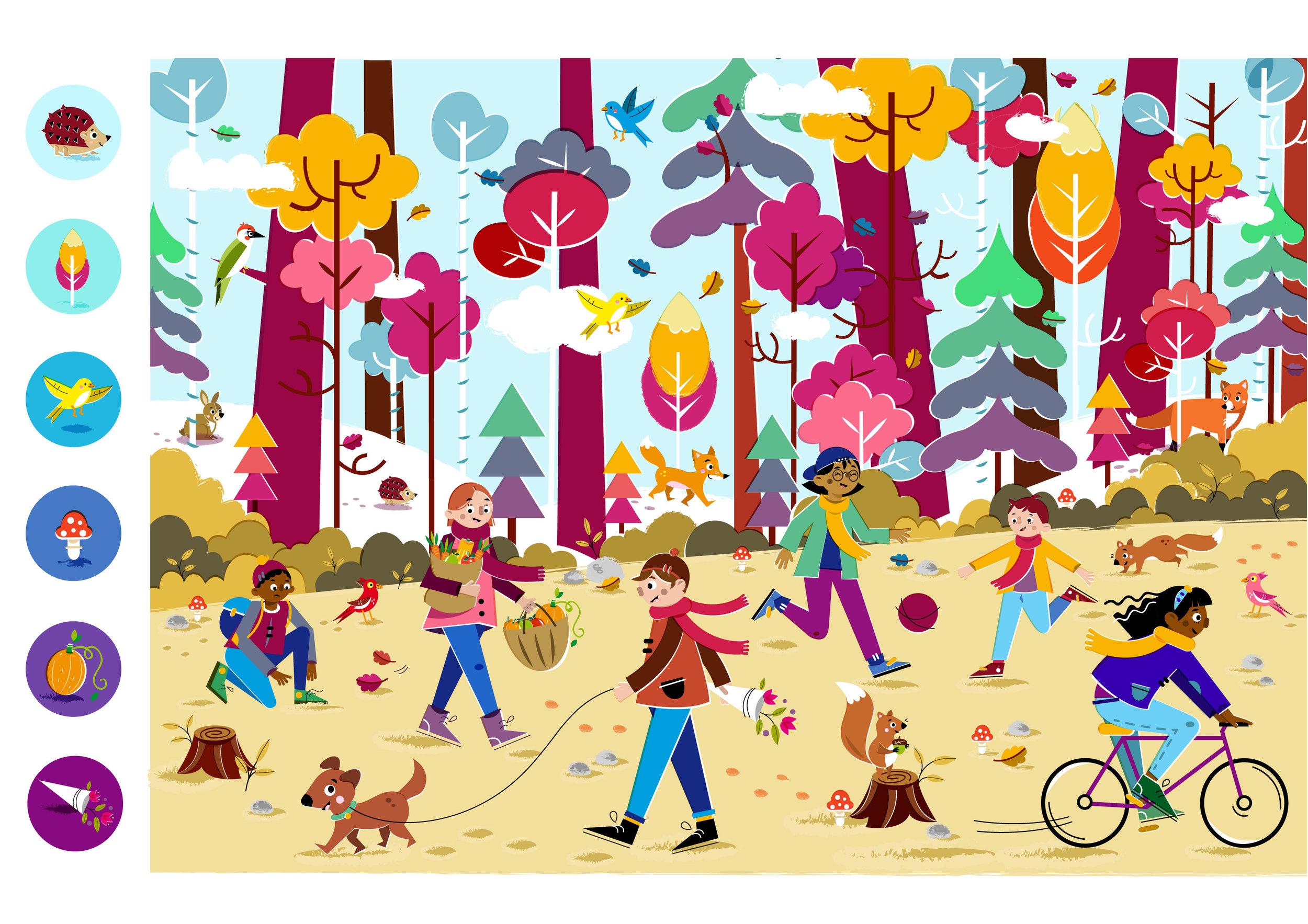 Hello Autumn! - Vector Illustration © Emeline Barrea, All rights reserved