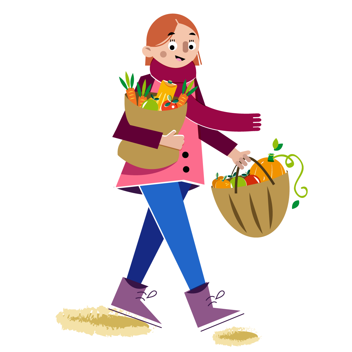Fresh from the market - Vector Illustration © Emeline Barrea, All rights reserved