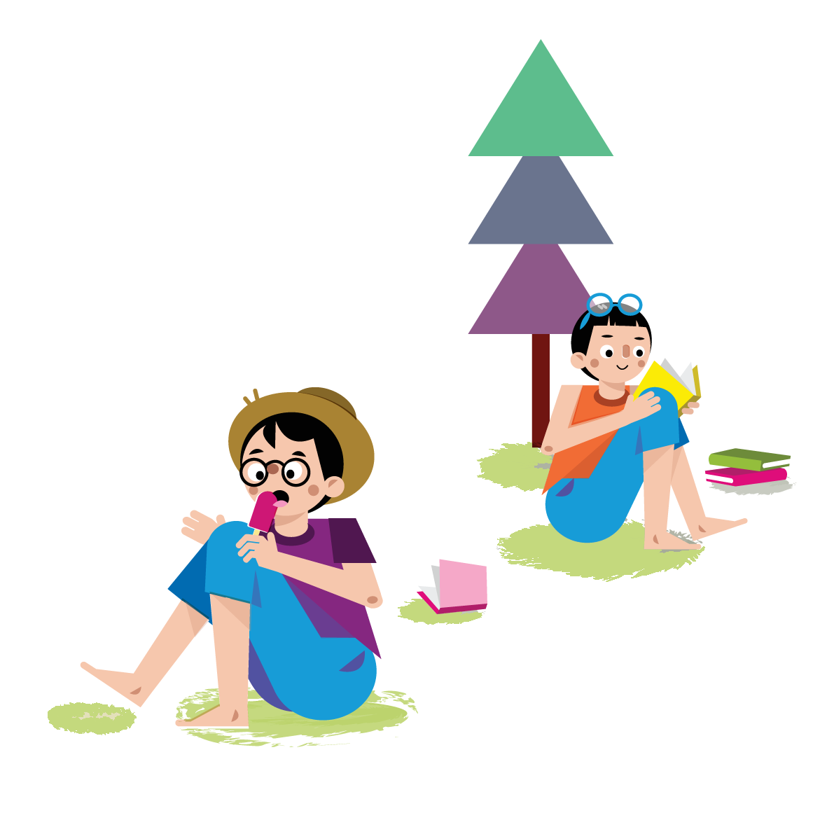 Camping boys - Vector Illustration © Emeline Barrea, All rights reserved