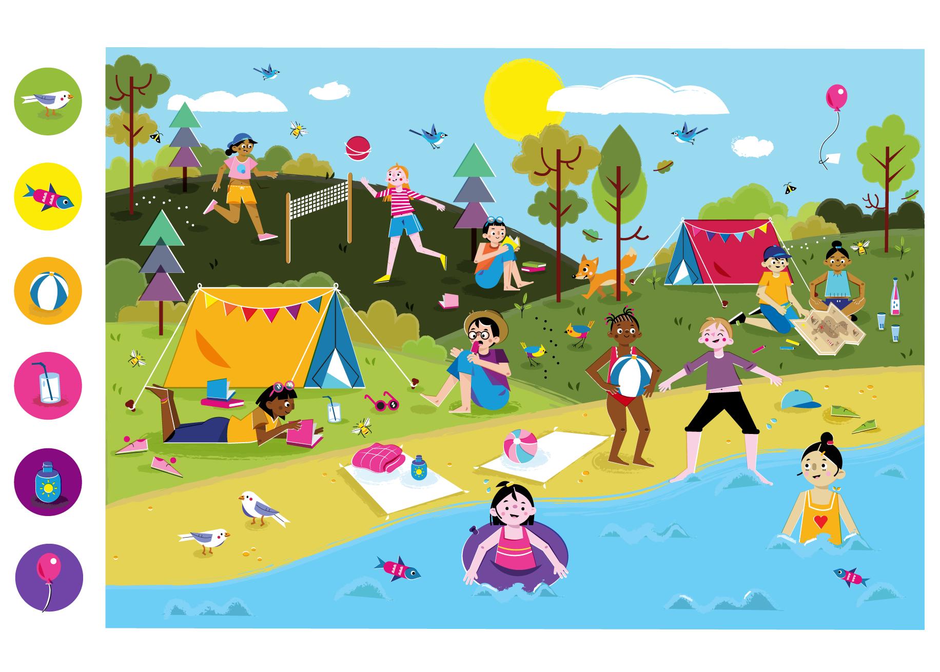 Summer time! - Vector Illustration © Emeline Barrea, All rights reserved