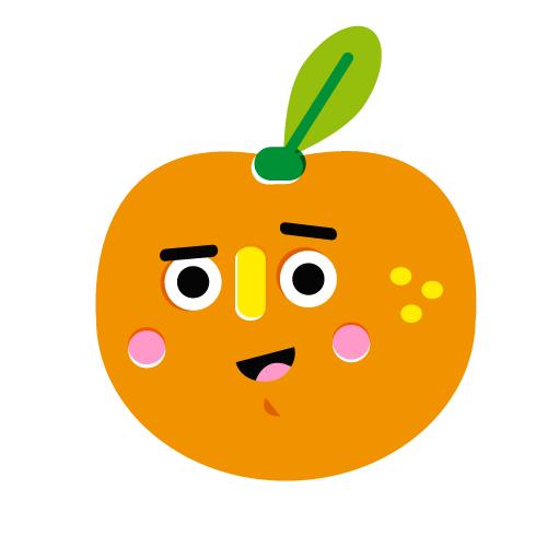 Orange - Vector Illustration © Emeline Barrea, All rights reserved