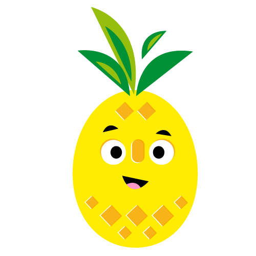 Pineapple - Vector Illustration © Emeline Barrea, All rights reserved