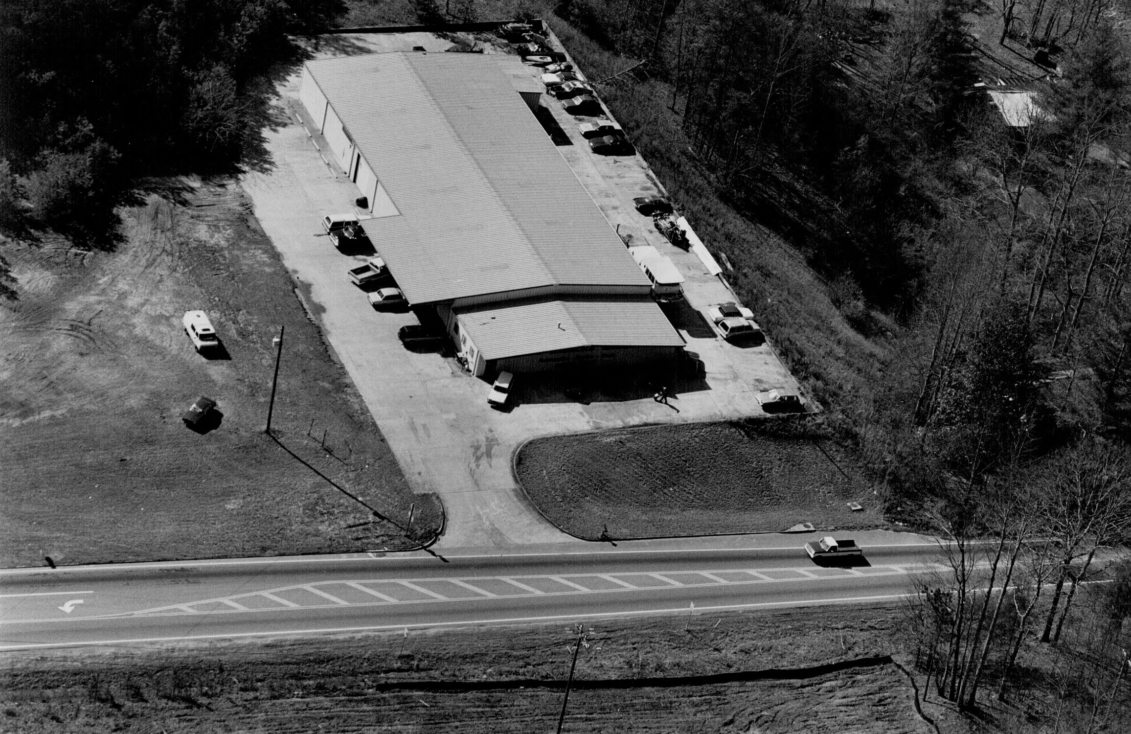 Aerial view of Sugar Hill location - 1990