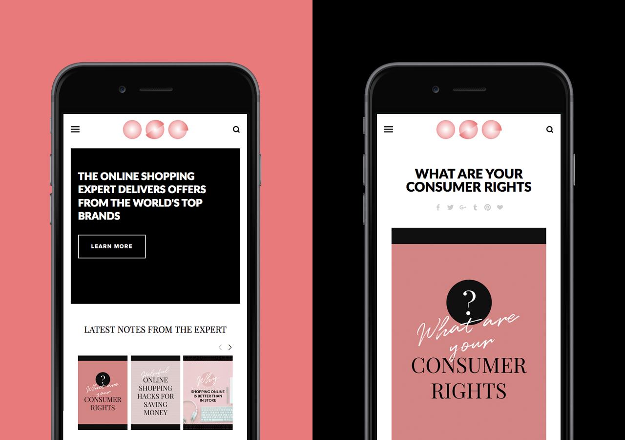 The Online Shopping Expert website design