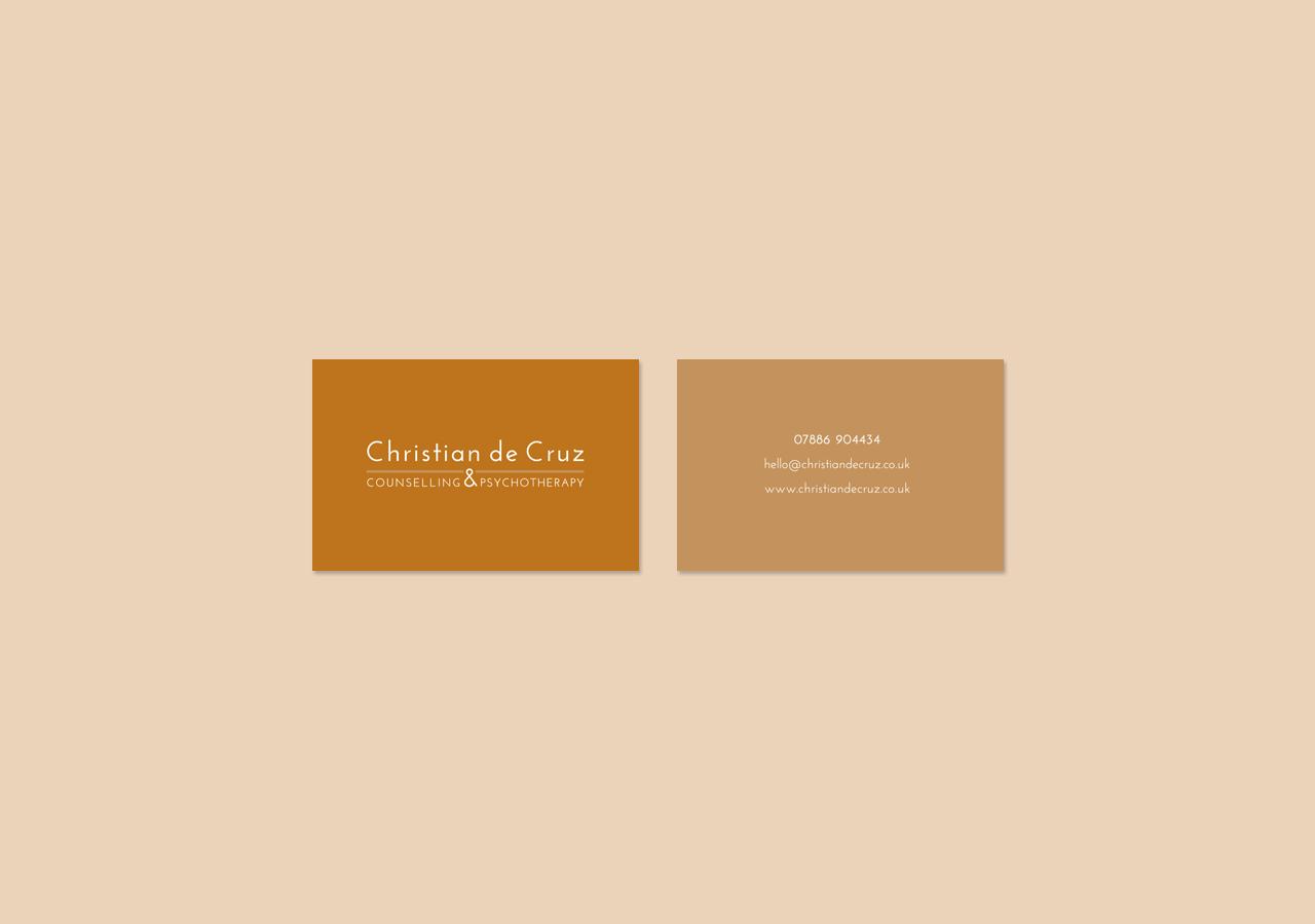 Christian de Cruz business card