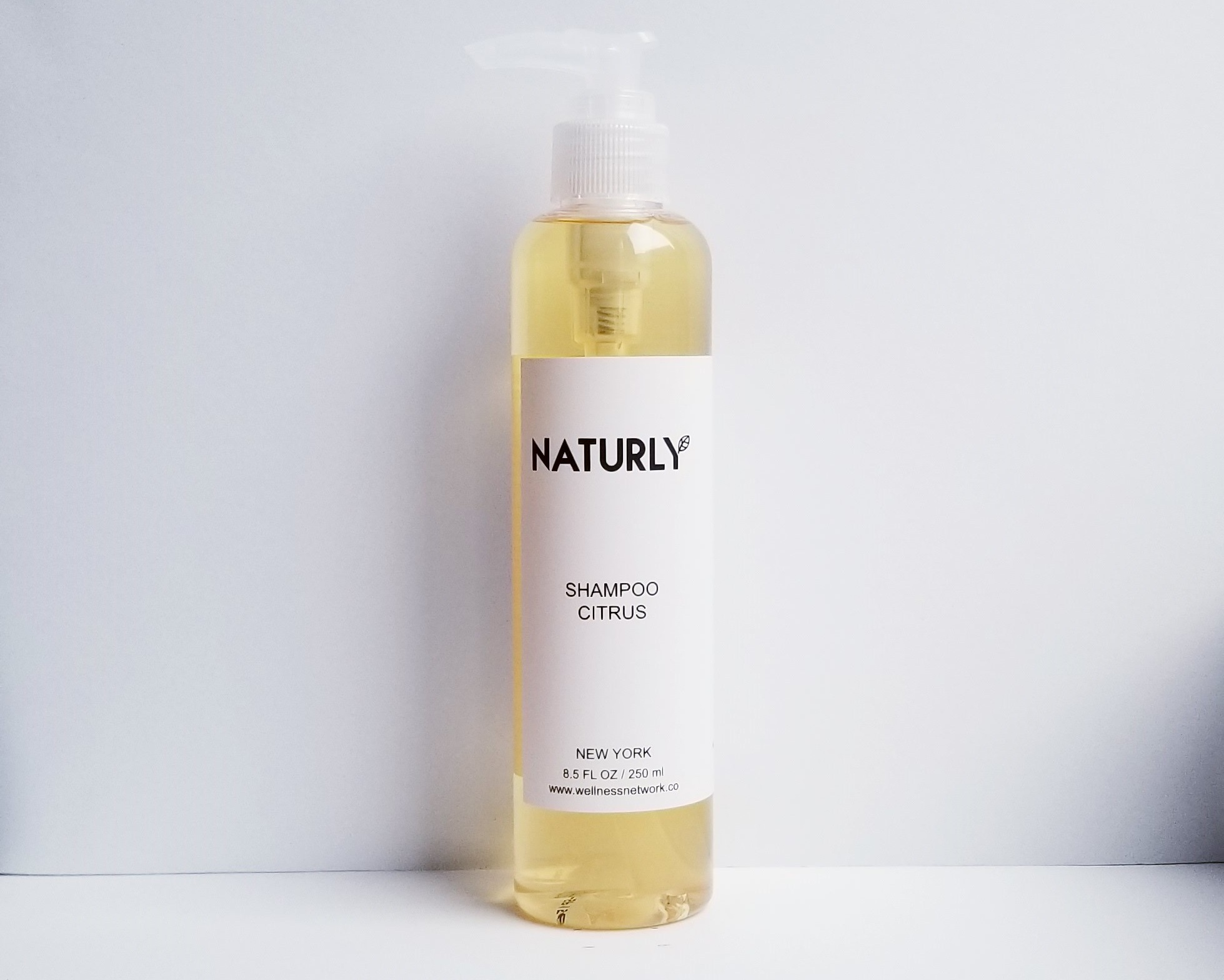 Shampoo with lemon & grapefruit oils, anti-oxidant vitamin E - $28