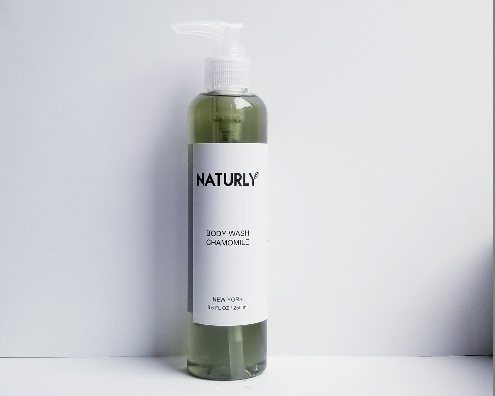 Body Wash with chamomile & lavendar oils; anti-oxidant chlorophyl extract - $24