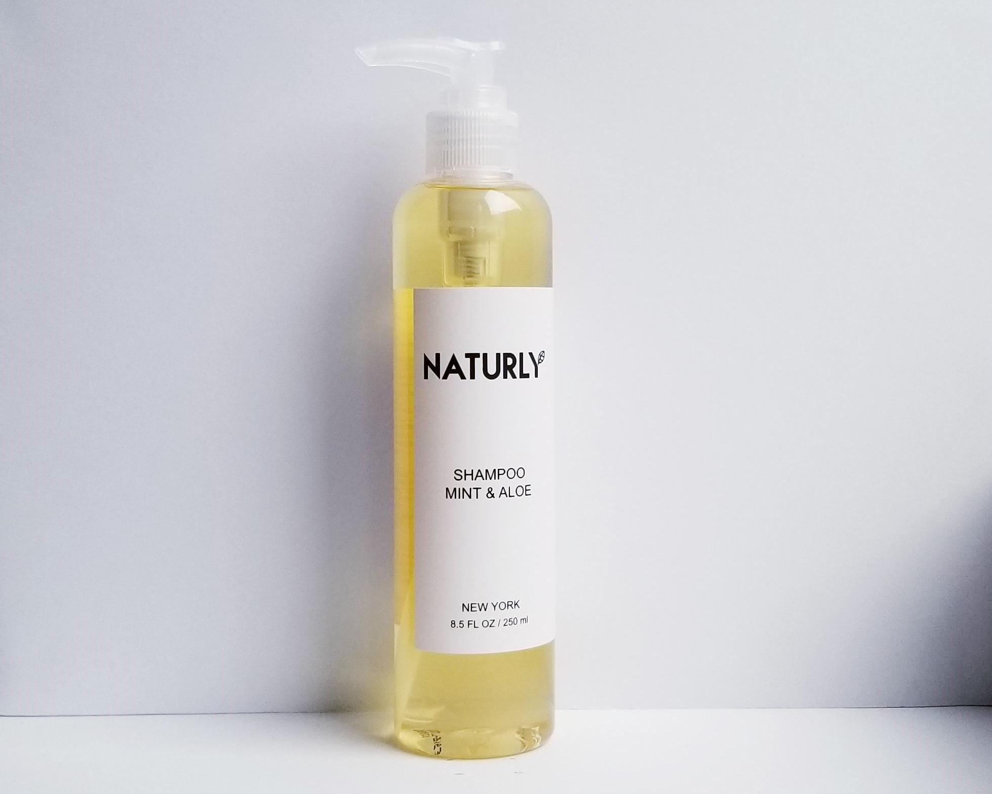 Shampoo with spearmint oil, aloe vera, anti-oxidant vitamin E - $28