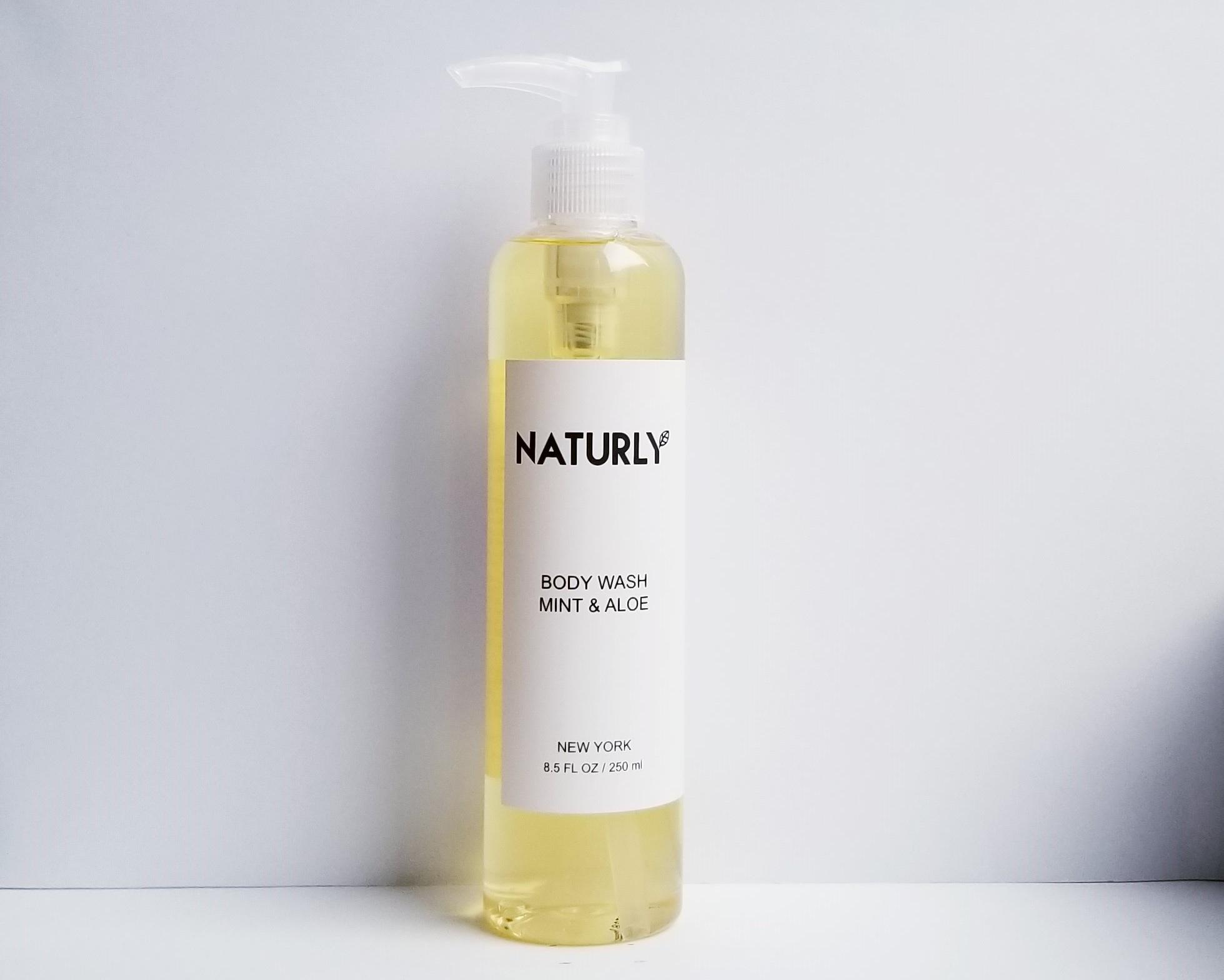 Body Wash with spearmint oil, aloe vera, anti-oxidant vitamin E - $28