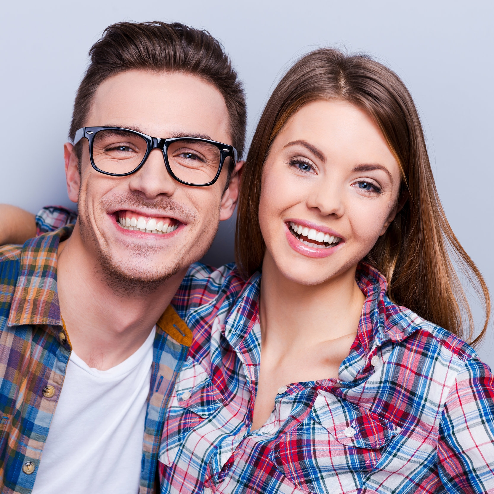 couple smiling after teeth whitening biddulph