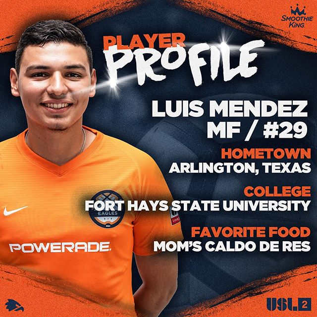 Our second Luis to introduce is the Guatemalan comedian, Mr Mendez! #charlotteeagles #USL2 #werace