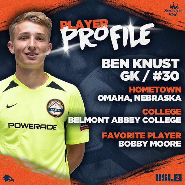Our Nebraskan shotstopper, Ben!! #charlotteeagles #USL2 #werace