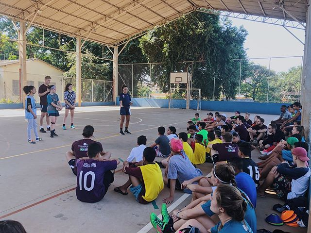 Soccer ministry projects, 11v11 games, açaí, and bilingual worship with Purples Banda! Remembering the promise in Isaiah 55:11 as God's Word goes forth.