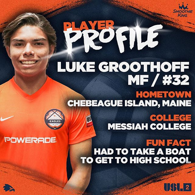 Today's second profile is our only player that lives on an island, Luke! #charlotteeagles #USL2 #werace