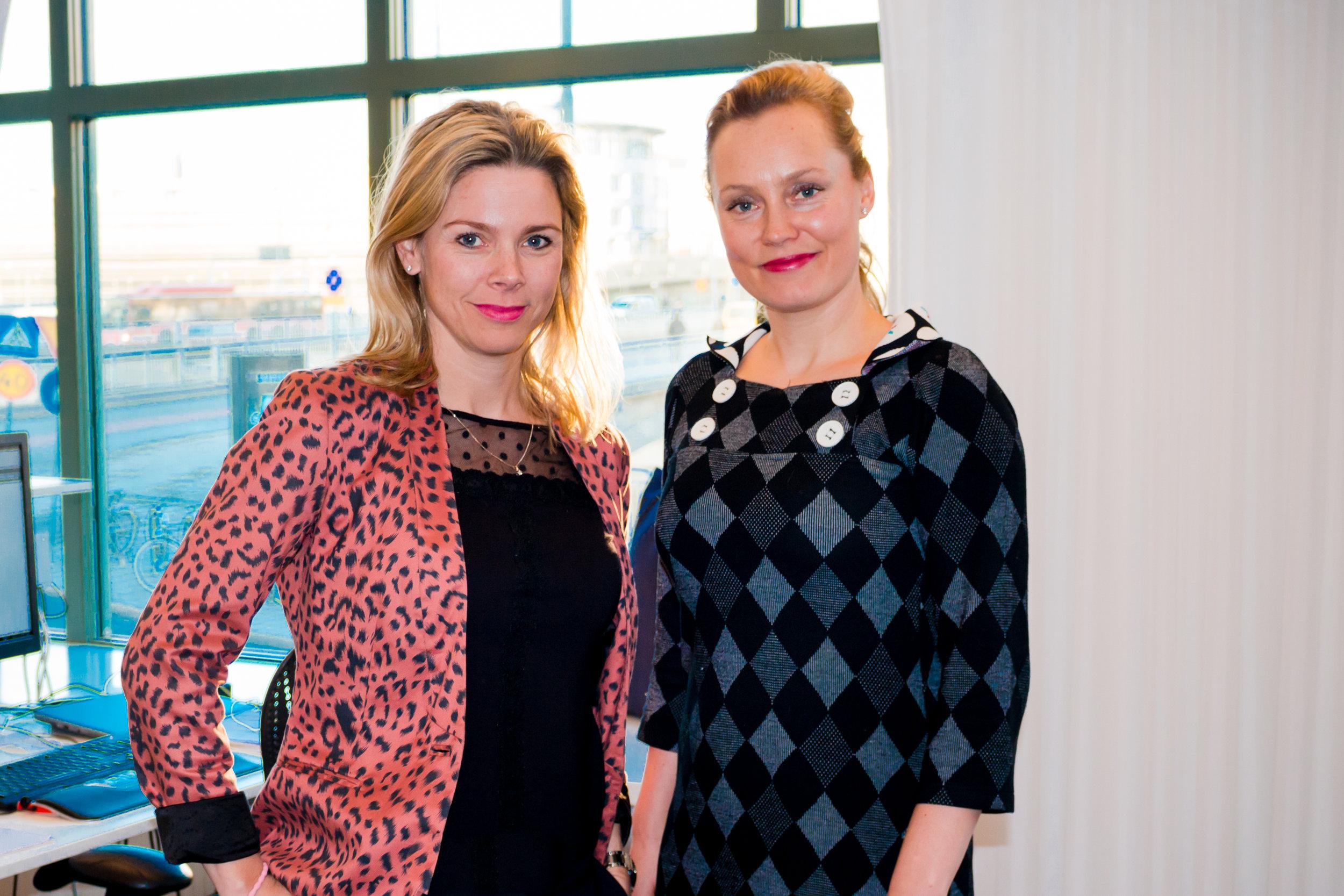 Susanna Liljetstam-Heigard och Anette Abel