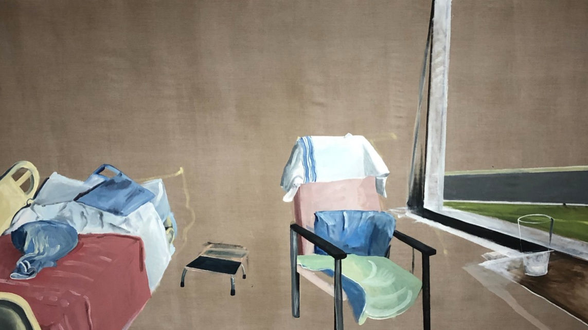 """Theatre, Oil on Linen, 118"""" x 62"""" (2019)"""