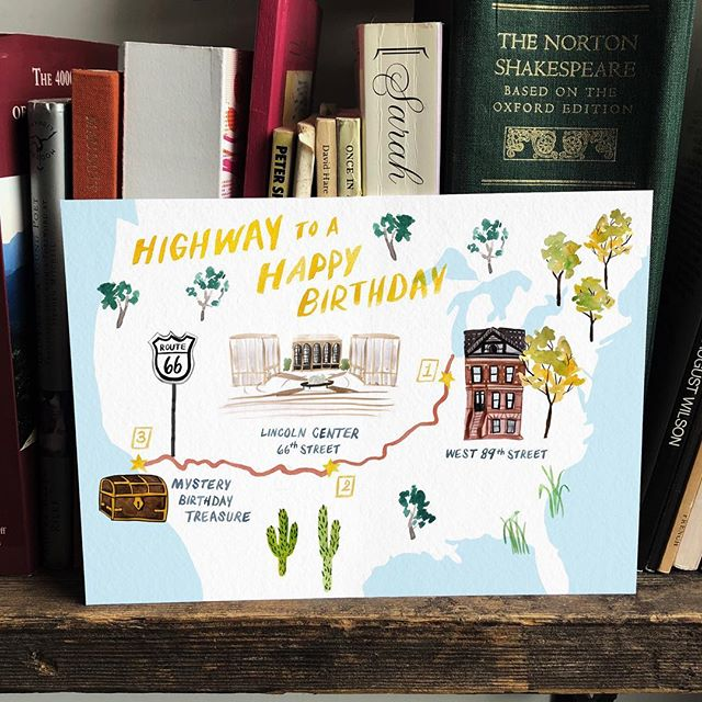 A guide to a very special birthday 🗺 #custommap