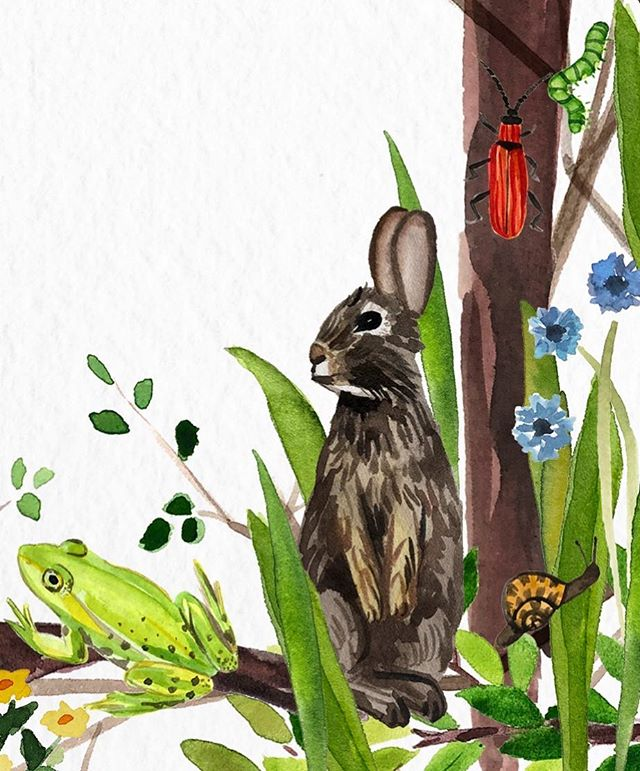 🐇🐞🐛🐌 Belated bunny and friends #workinprogress
