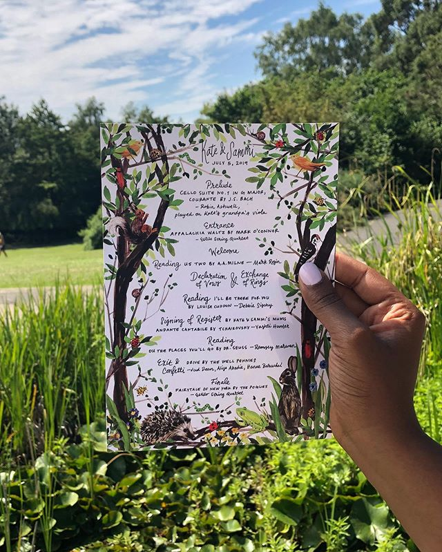 Congratulations Kate & Sammi!! A gorgeous day, a hilarious couple. ❤️❤️❤️ @katewaitingforaplate . . . . . . #weddinginspiration #weddingstationery #watercolorpainting