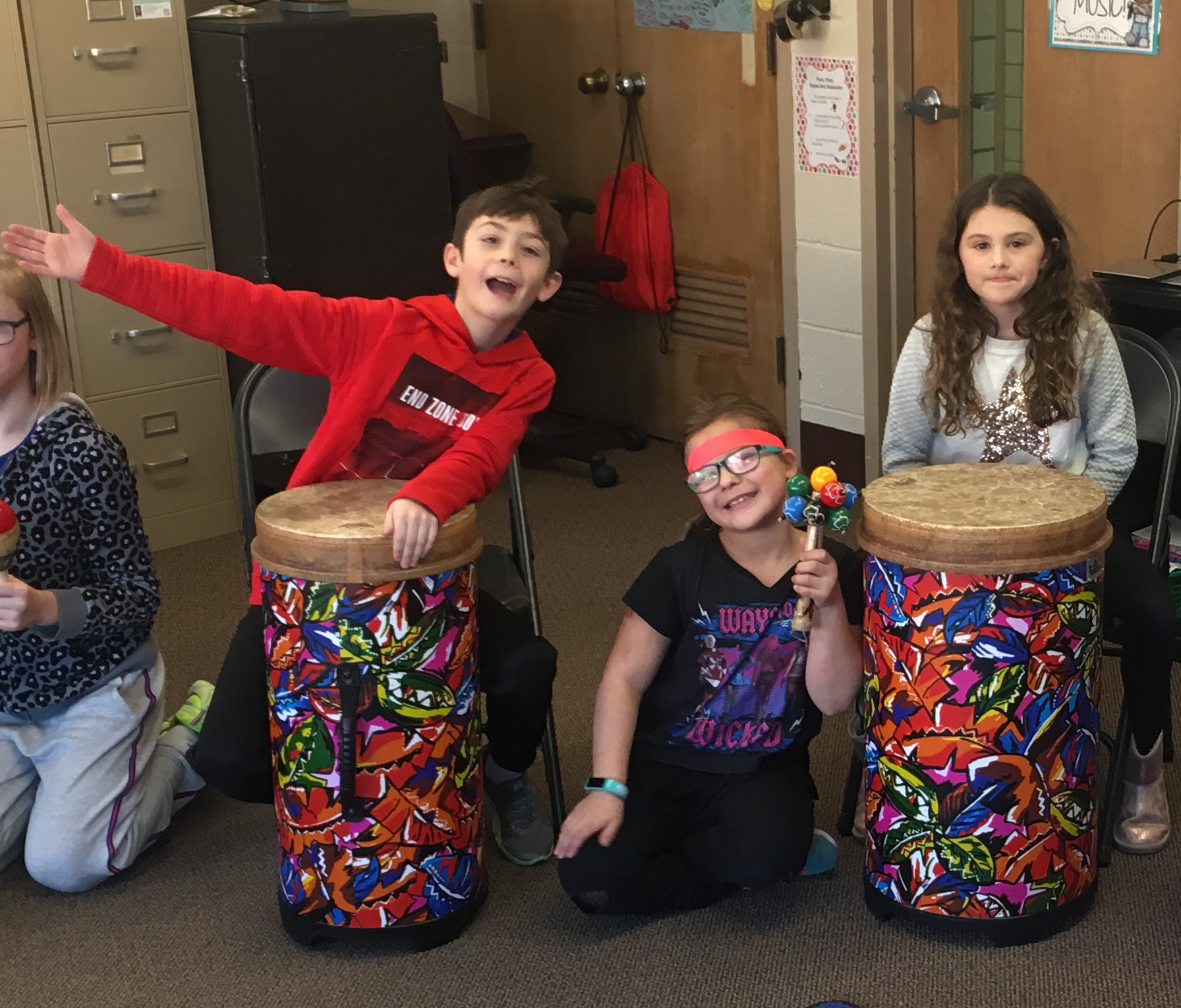 An African Drums project in elementary schools.