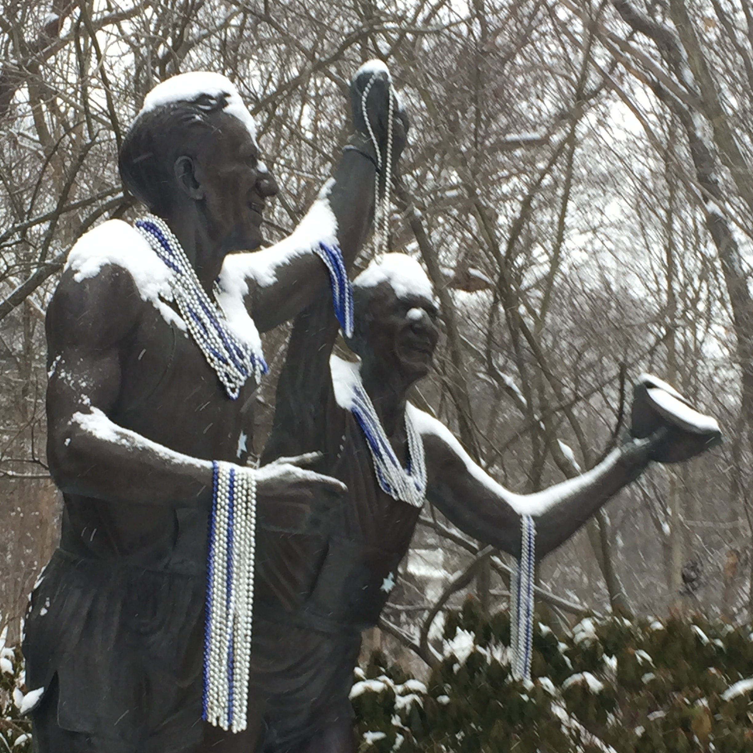 Only Johnny Kelley and I were out running that day. Johnny Kelley statue, Commonwealth Ave., Newton, MA