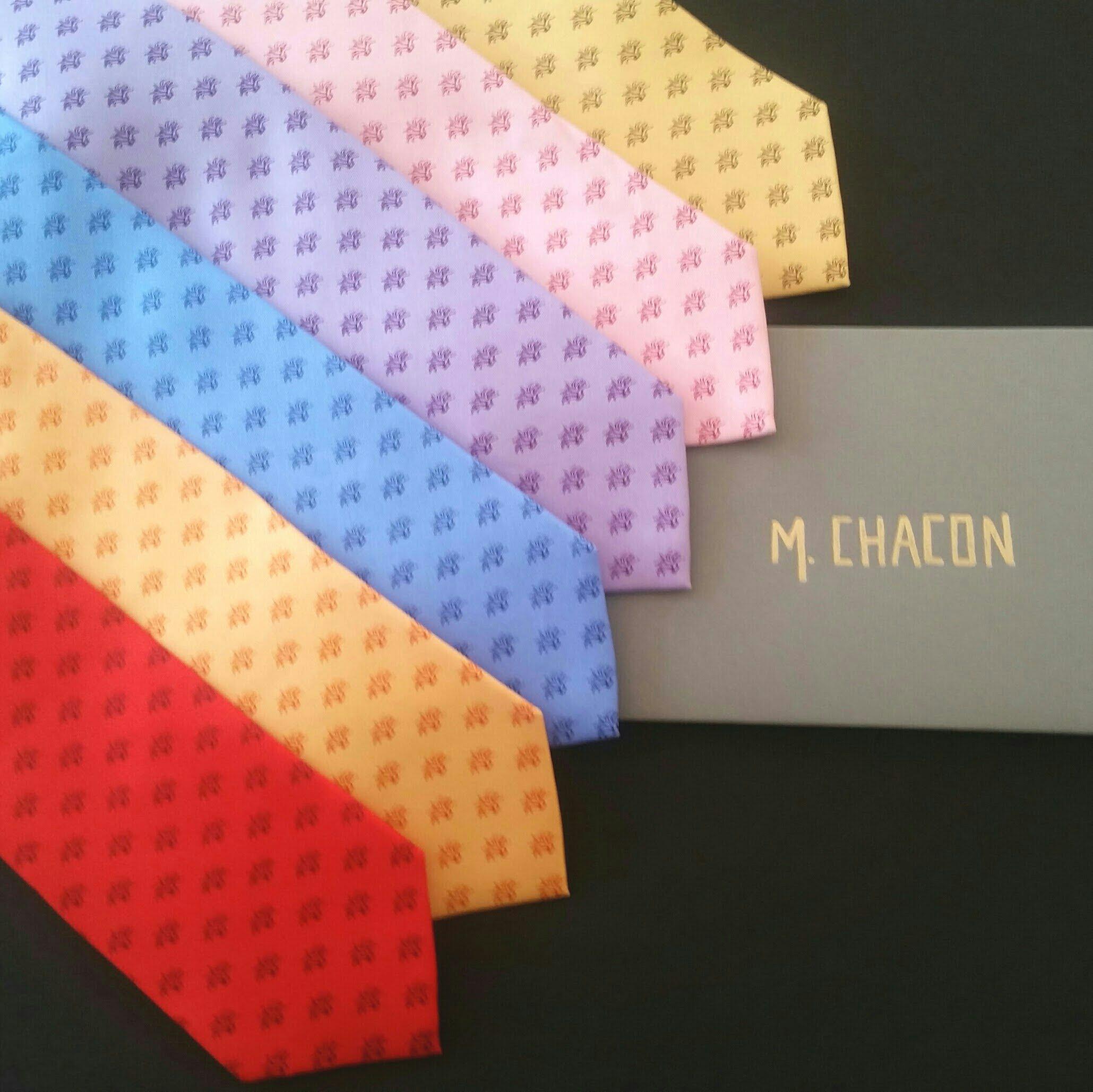 Corbata Agaves  100 % seda  Rojo, naranja, amarillo, lila, azul y rosa.